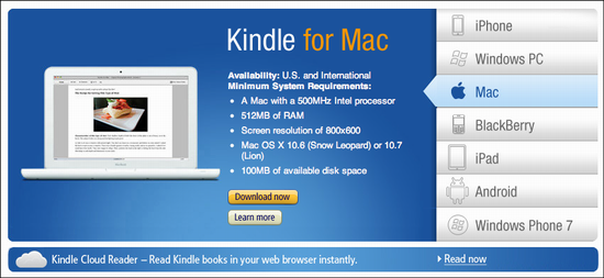Can I read Kindle ebooks on my Apple MacBook or Windows PC