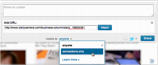 how to change url of linkedin page