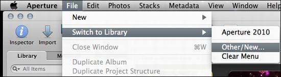 mac aperture create new album 1