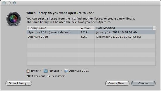 mac aperture create new album 2
