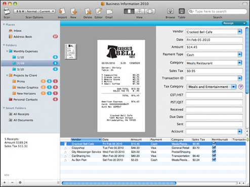 neat receipts mac screenshot