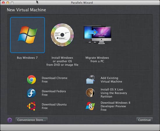 parallels for mac run linux