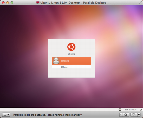parallels install ubuntu linux 5