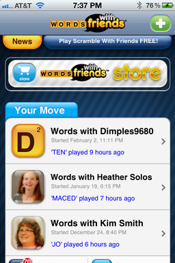 how to delete a words with friends account