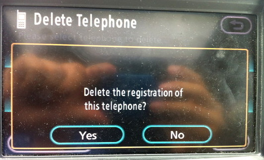 toyota navsys bluetooth delete phone 6