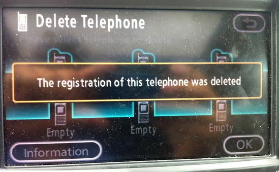 toyota navsys bluetooth delete phone 7