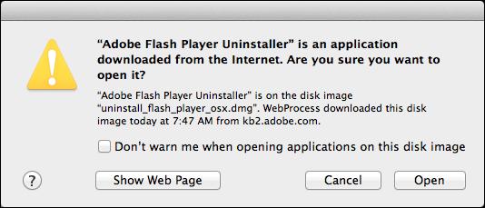 uninstall remove flash mac 2