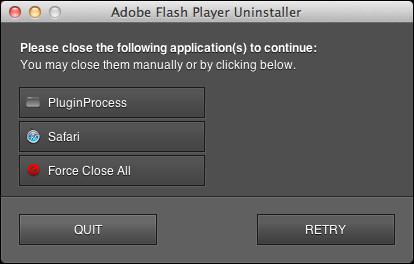uninstall remove flash mac 5