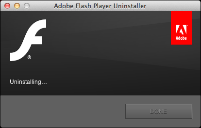 uninstall remove flash mac 7