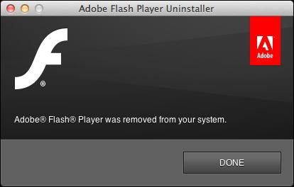uninstall remove flash mac 8