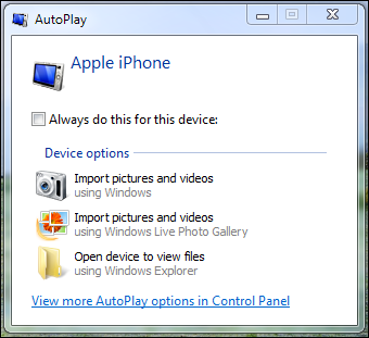 Change what program manages iPhone photos on Windows 7? - Ask Dave ...