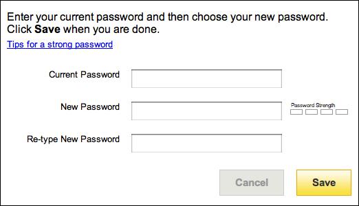 how do i change yahoo password