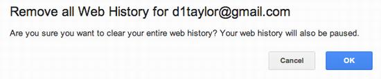 delete google search history 6