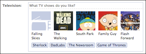 change favorite tv shows and movies on my facebook profile ask