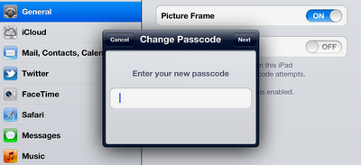ipad complex password 3