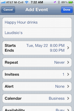 how to send calendar from mac to iphone