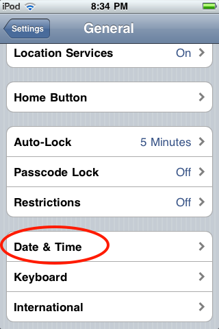 do iphones automatically change time zones how do i fix the time date on my apple ipod touch ask 6462