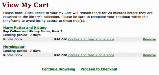 Check Out A Kindle Ebook From The Public Library