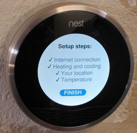 nest thermostat setup complete