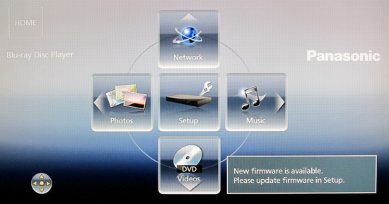 Update firmware on my Panasonic Blu-Ray DVD player? - Ask