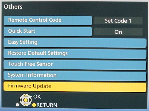 does my tv need firmware update