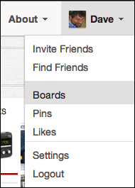 pinterest add a board 1