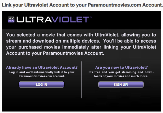 how do i watch an ultraviolet instant movie stream ask