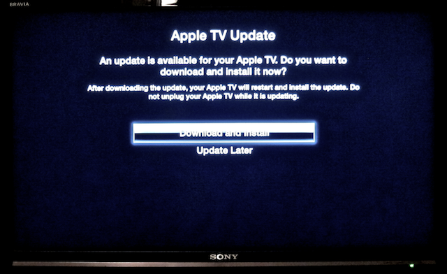 upgrade apple tv 4