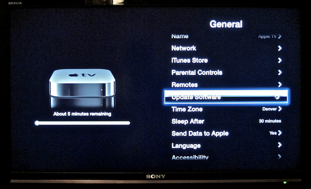 upgrade apple tv 5