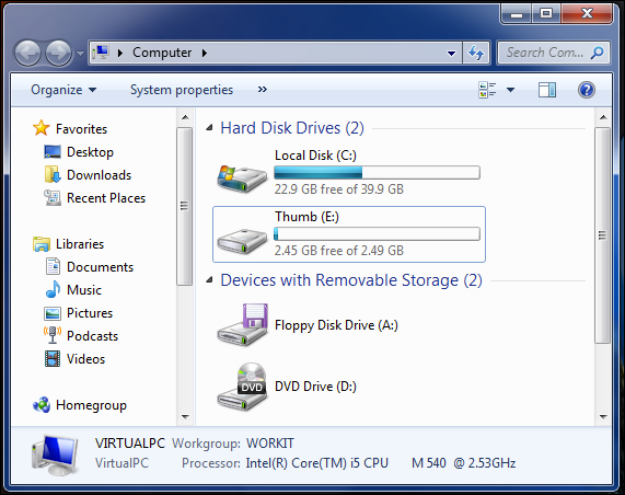 How can I create a virtual drive in VMWare Fusion? - Ask