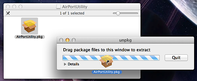 how to set up airport utility