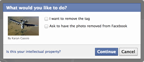 how to untag yourself from a facebook photo