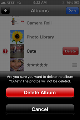 Delete an album in Photos app on the iPhone 5? - Ask Dave Taylor