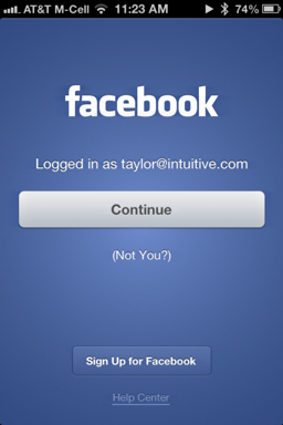 facebook-ios-app-logout