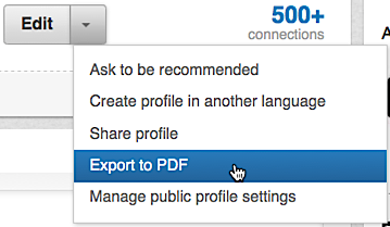 export linkedin profile as a pdf resume ask dave taylor
