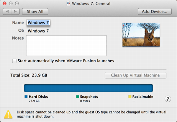Can I trim down my VMWare Fusion virtual hard disk? - Ask