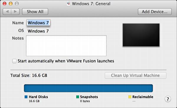 vmware fusion mac shrink disk