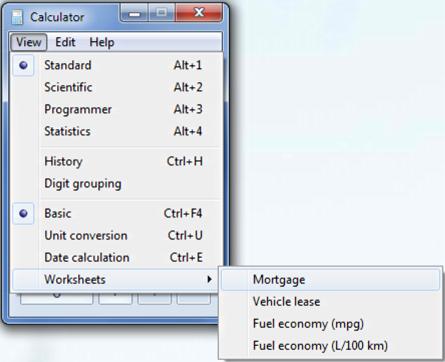 advanced mortgage calculator in windows 7 ask dave taylor
