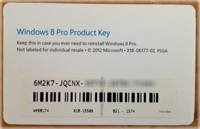 windows 8 code