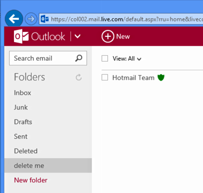 """How to delete folders in Hotmail """"Outlook""""? - Ask Dave Taylor"""
