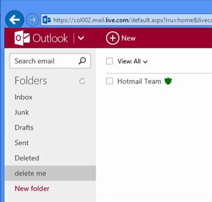 access hotmail folders on mac