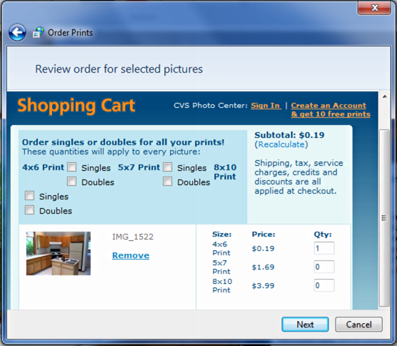 how to change the order of photos windows 7
