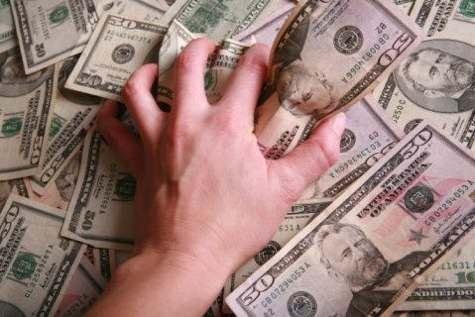 money grabbing hand