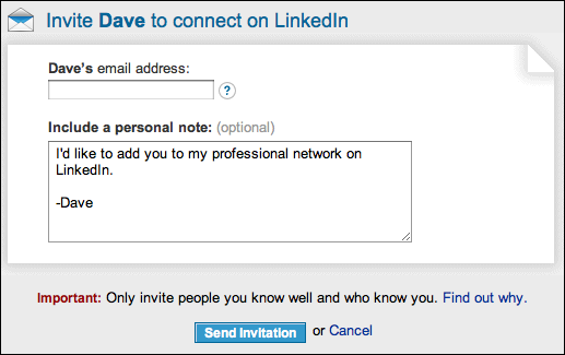 how to stop linkedin from sending invitations to my contacts