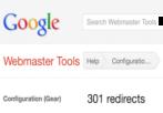 google webmaster tools: 301 redirection