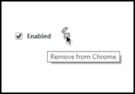 chrome delete extension