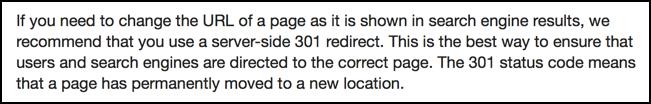 google webmaster guidelines 301 redirect