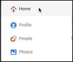 google plus menu