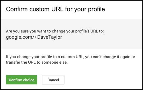confirm custom url