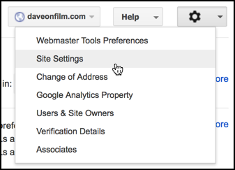 edit settings google webmaster tools